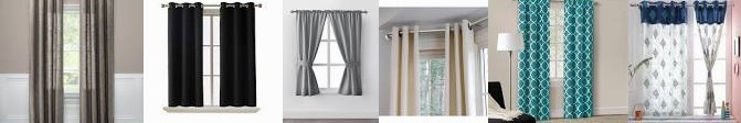 "Off ... Curtain of Mainstays at Deal! Pocket in Target Curtain, Room Textured 63"" Set Threshold™ D"