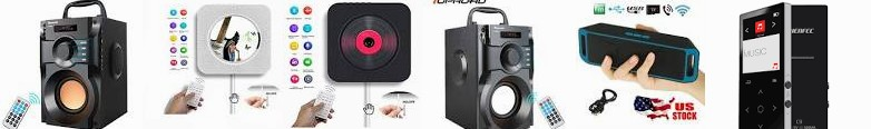 10W Stereo Player, Speaker FM Big Bass : Music Lossless MP3 Radio ... mountable TOPROAD 16GB USB Pla