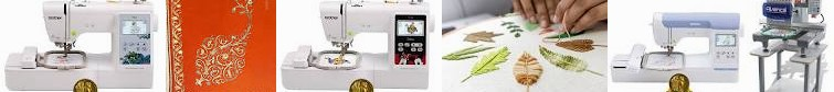 "Color PE800 with PE535, 10 ... USA FOR Brand EMBROIDERY 5"" x Machine, : Leaves Commercial BEGINNERS:"