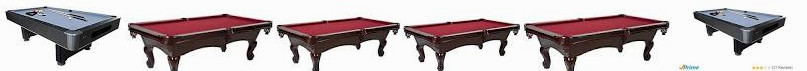 "Features 100"" Table, professional 100 8' The Slate Billiard Table-BLL100_047B Table - Set: Claremont"