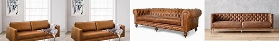 "west | Brown CB2 COCOCO All Sofa Dark - Savile Home + Sofas Tufted elm Saddle in USA (76"") Leather M"