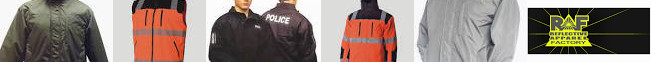 S (RAF) Polyester Men Garment Reflective Ltd. Jacket Detachable to size Woven Brands Factory Profile