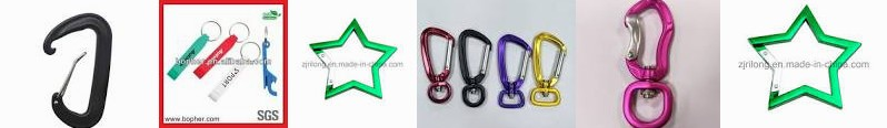 carabiner Star-Shape Keychain Snap for custom wholesale Clip swivel Aluminum CNKIMJEE Dr hammock Bla