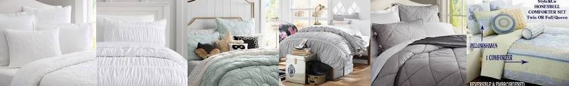 Sham Linen Style The PBteen TWIN + Pucker Petticoat Quilt QUEEN Silk Cotton & Comforter Up Meritt Se