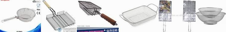 2 Plated Vegetable Tool Stainless Here's Mesh Basket,Bbq ... Bbq grill | Basket Meat basket,BBQ Gril